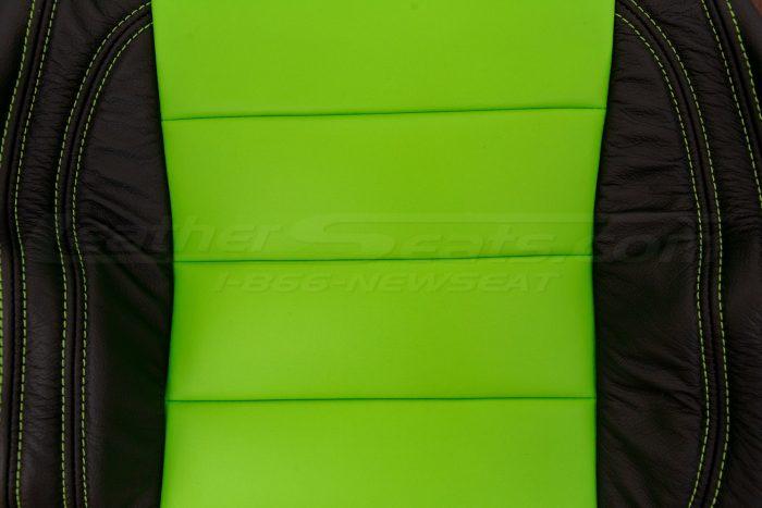 Jeep Wrangler Upholstery Kit - Black & Lime Green - Insert close-up