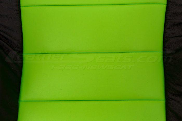 Jeep Wrangler Upholstery Kit - Black & Lime Green - Backrest insert close-up 3