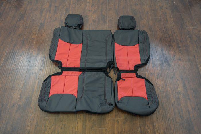 Jeep Wrangler upholstery kit - Black / Bright Red - Rear seat upholstery