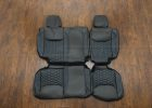 2013-2018 Jeep Wrangler Bespoked Leather Seats - Black & Cobalt - Rear seats