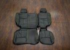 Jeep Wrangler Leather Seats - Black & Piazza Green - Rear seats