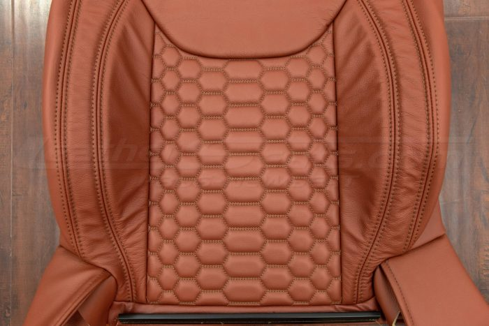 Jeep Wrangler Reticulated Upholstery Kit - Mitt Brown - Reticulated Hex insert