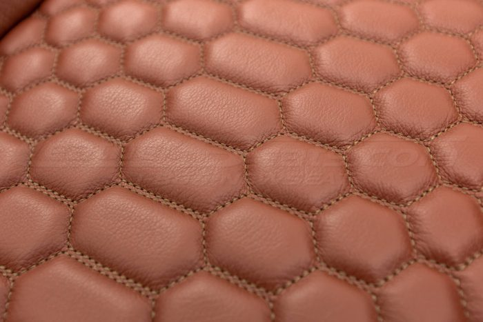 Jeep Wrangler Reticulated Upholstery Kit - Mitt Brown - Reticulated Hex close-up