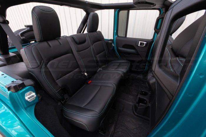 Jeep Wrangler JL Upholstery Kit - Black - Installed - Rear seats