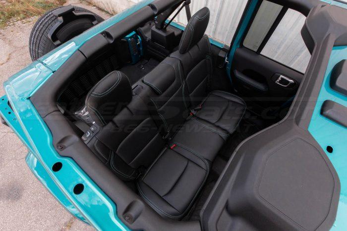 Jeep Wrangler JL Upholstery Kit - Black - Installed - Rear seats overhead