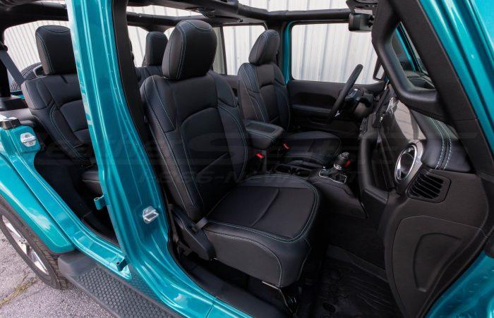 Jeep Wrangler JL Upholstery Kit - Black - Installed - Front passenger seat