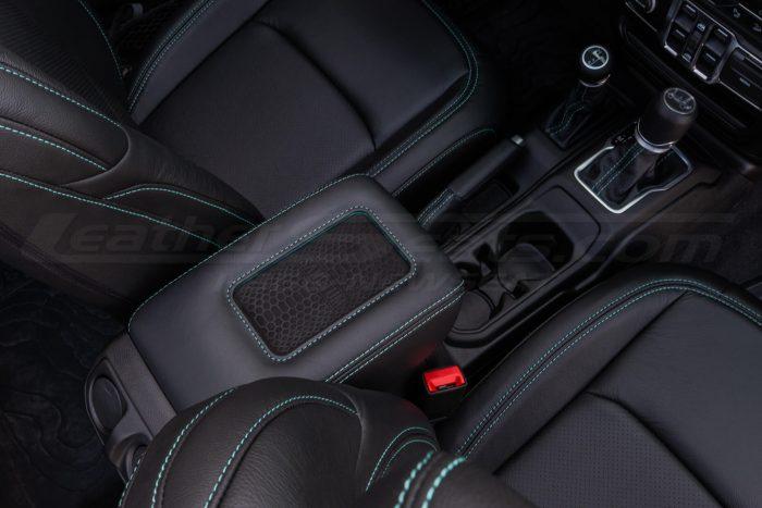 Jeep Wrangler JL Upholstery Kit - Black - Installed - Sanctum charging console