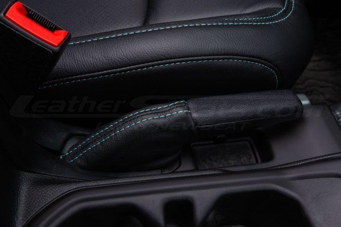 Jeep Wrangler JL Upholstery Kit - Black - Installed - Custom e-brake cover