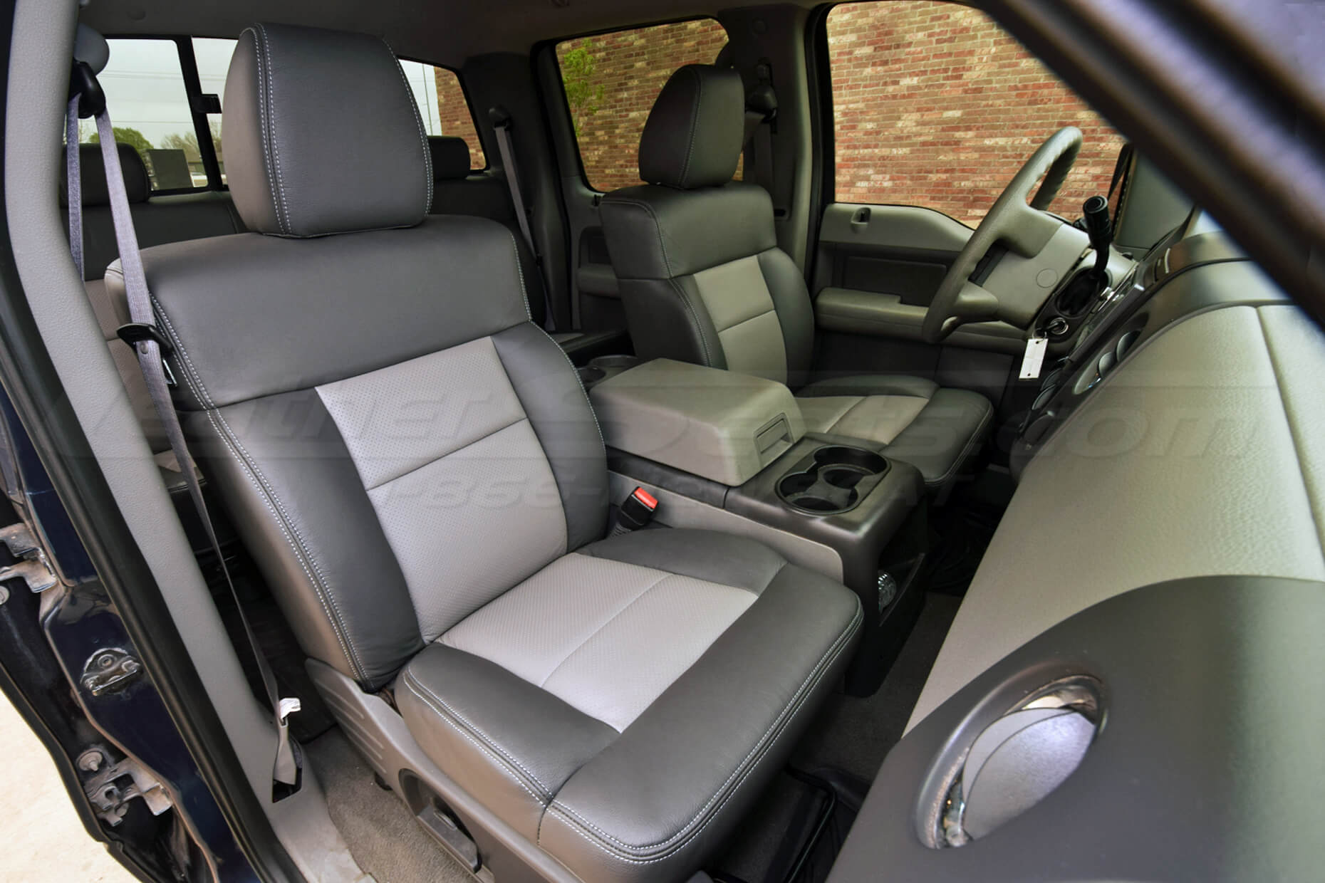 Ford F-150 SuperCrew with installed upholstery