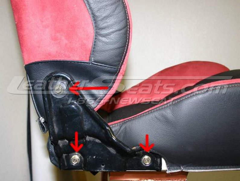 Removing backrest screws #2