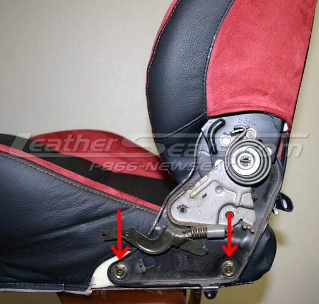 Removing backrest screws #3