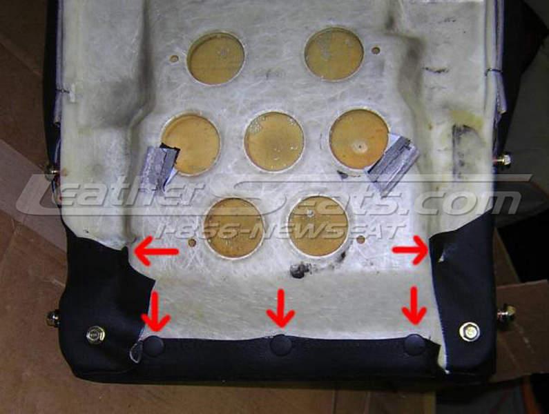 Seat cushion hog ring removal