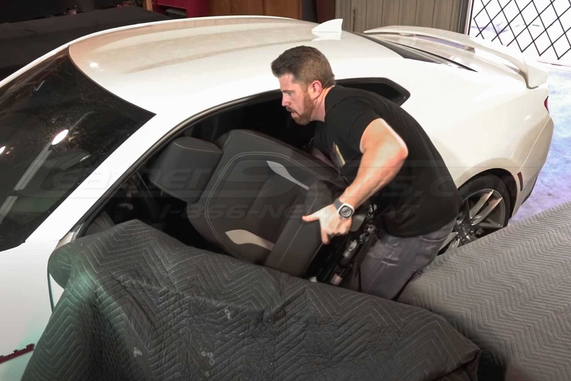 Removing factory cloth seat from vehicle