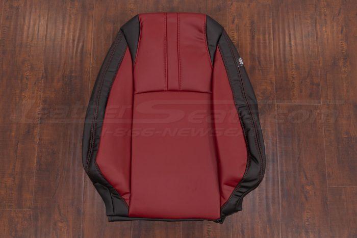 2016-2021 Honda Civic Leather Seat Upholstery - Black & Cardinal - Front backrest