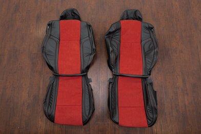 Dodge Challenger Upholstery Kit - Black & Red Suede