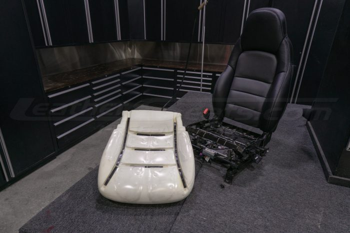 Liquicell Gel Pads on seat cushion next to full seat