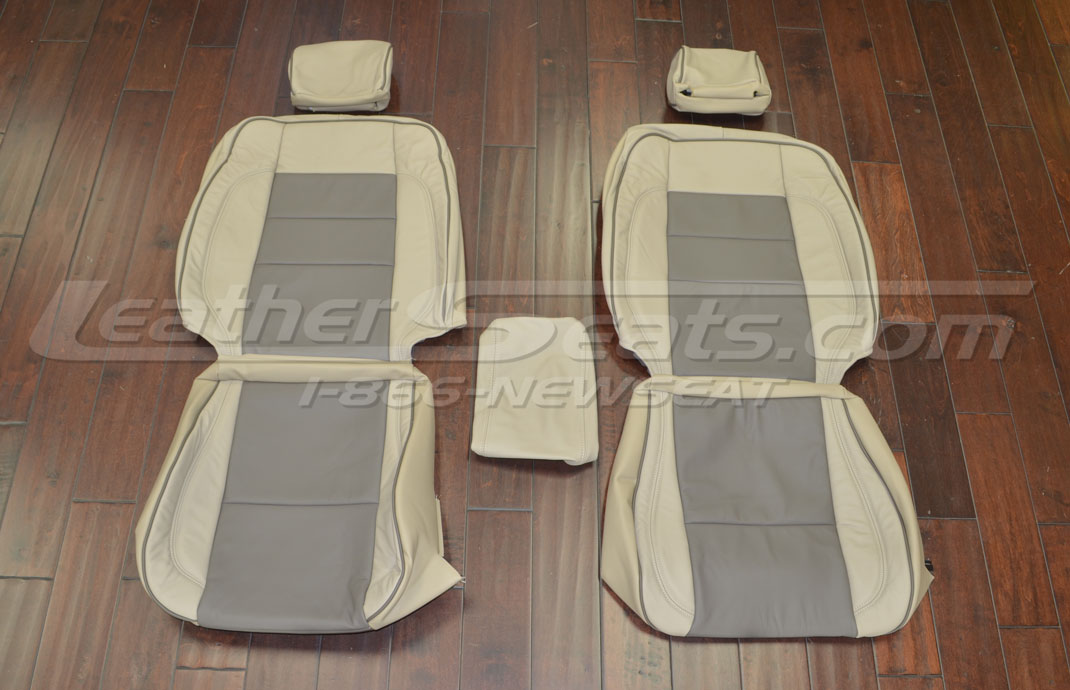 Lexus GS Upholstery kit - Sandstone & Earth - Front seats
