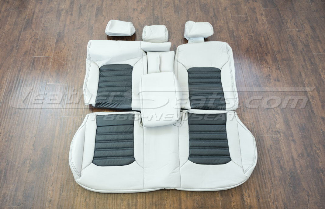 Volkswagen passat upholstery kit black and dove grey - rear seats
