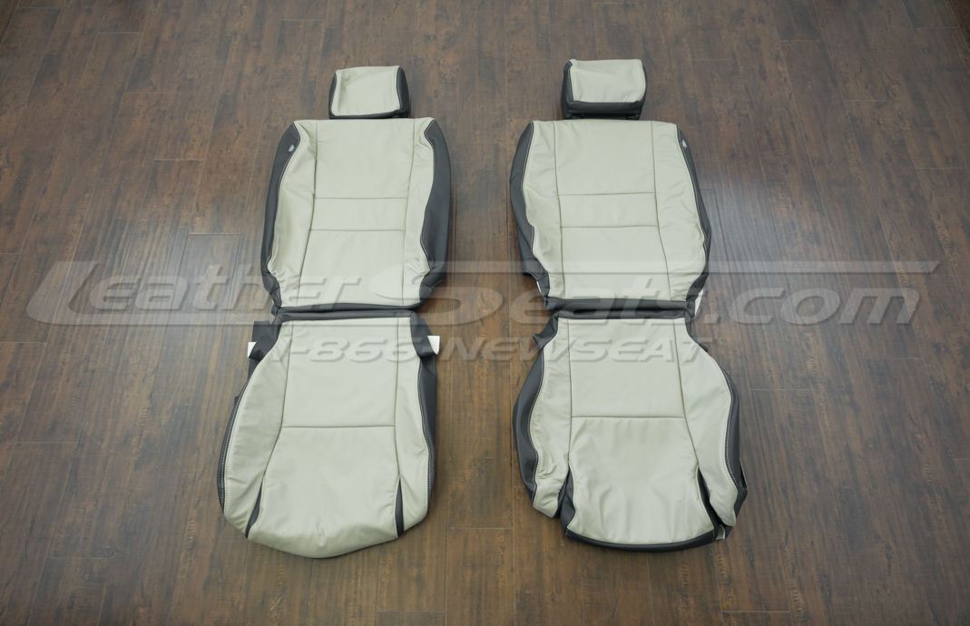 Toyota Sequoia upholstery kit - Black/Ivory - Front seats