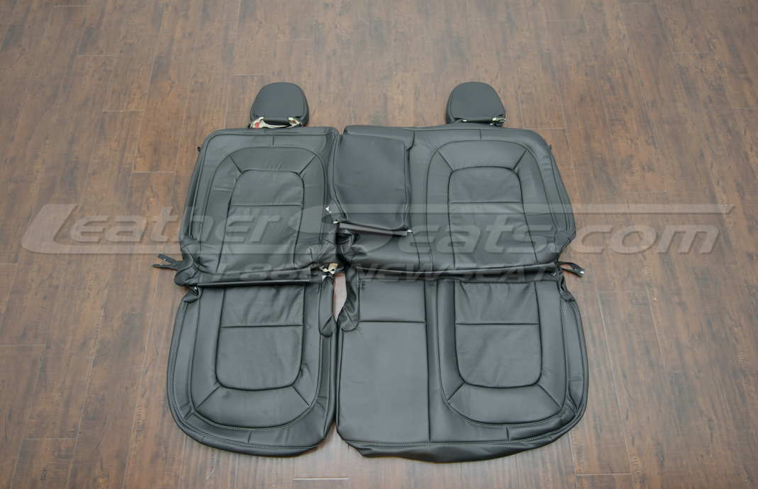 GMC Canyon Leather Upholstery Kit - Black - Rear seat upholstery