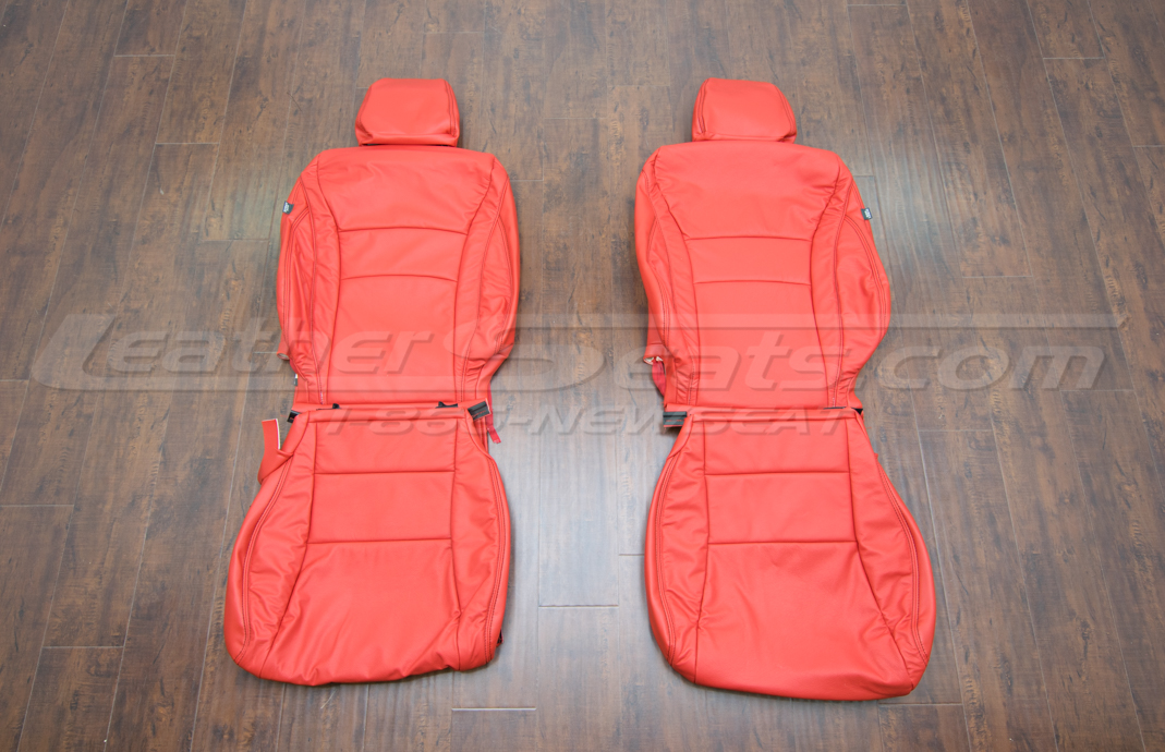 Honda Accord leather upholstery kit bright red - front seats