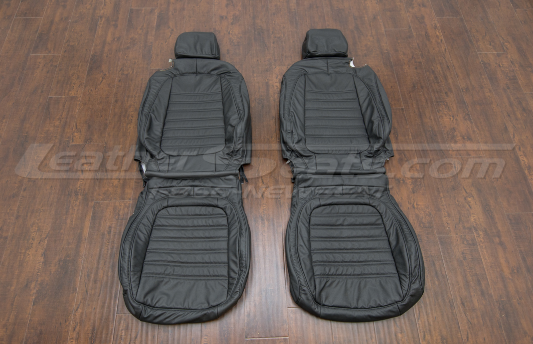 Volkswagen Beetle leather upholstery kit - black - front seats