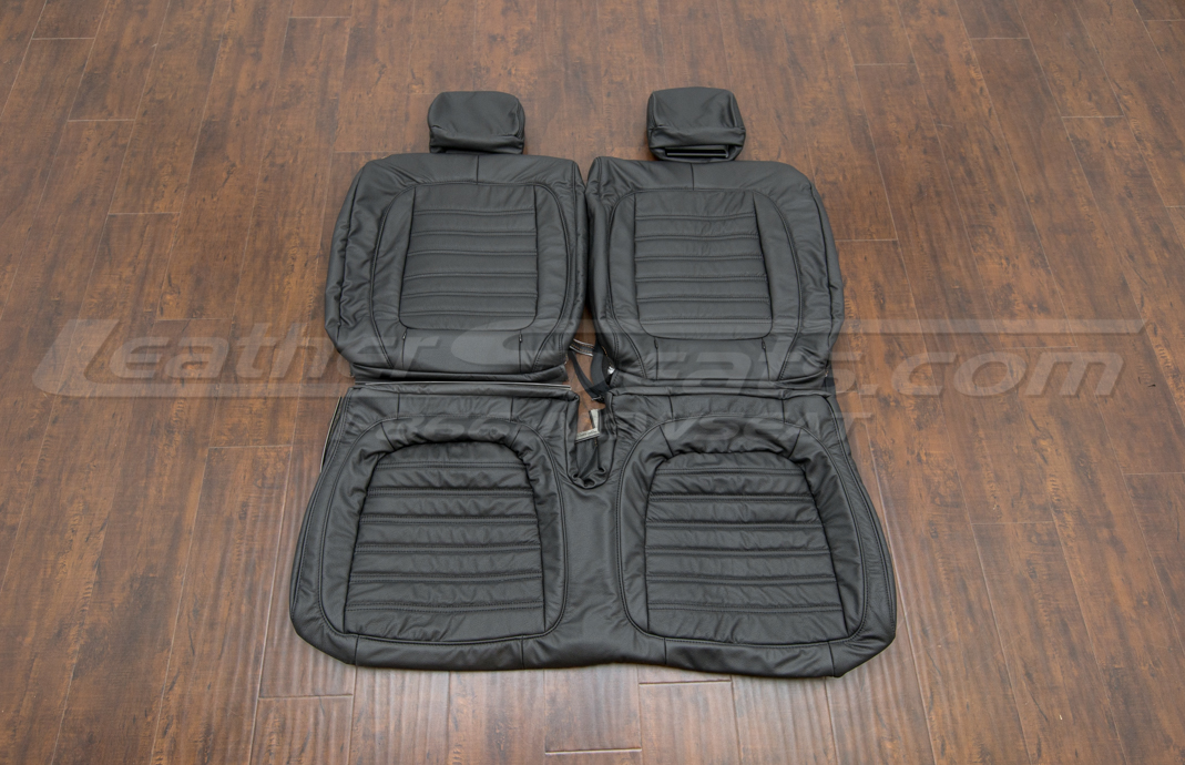 Volkswagen Beetle leather upholstery kit- black - rear seats