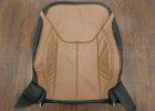 Jeep Wrangler leather kit - Black/Teak - Front backrest upholstery