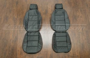 BMW Leather upholstery kit - Black - Front seats