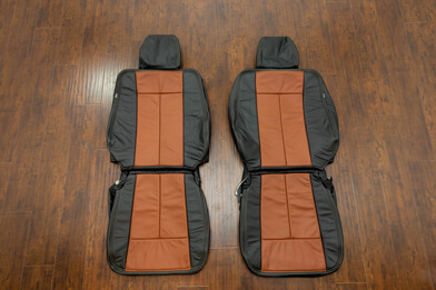 2010-2011 Ford Expedition Leather Kit - Black & Mitt Brown - Featured Image