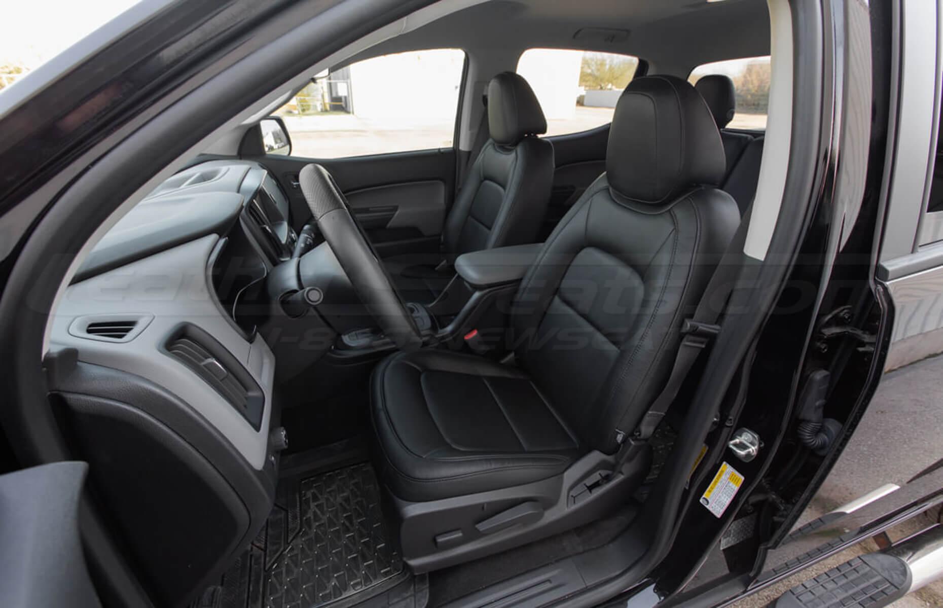 Chevrolet Colorado Leather Seats - Black - Front Driver