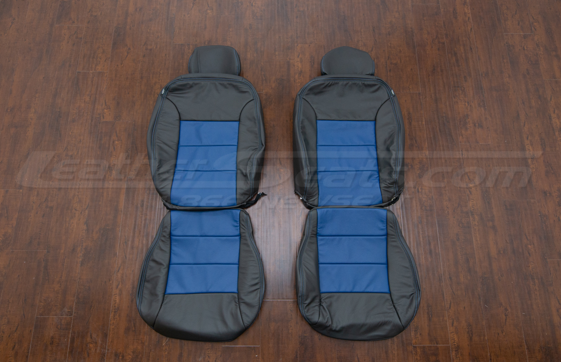 Volkswagen Jetta upholstery kit, dark graphite and pacific - front seats