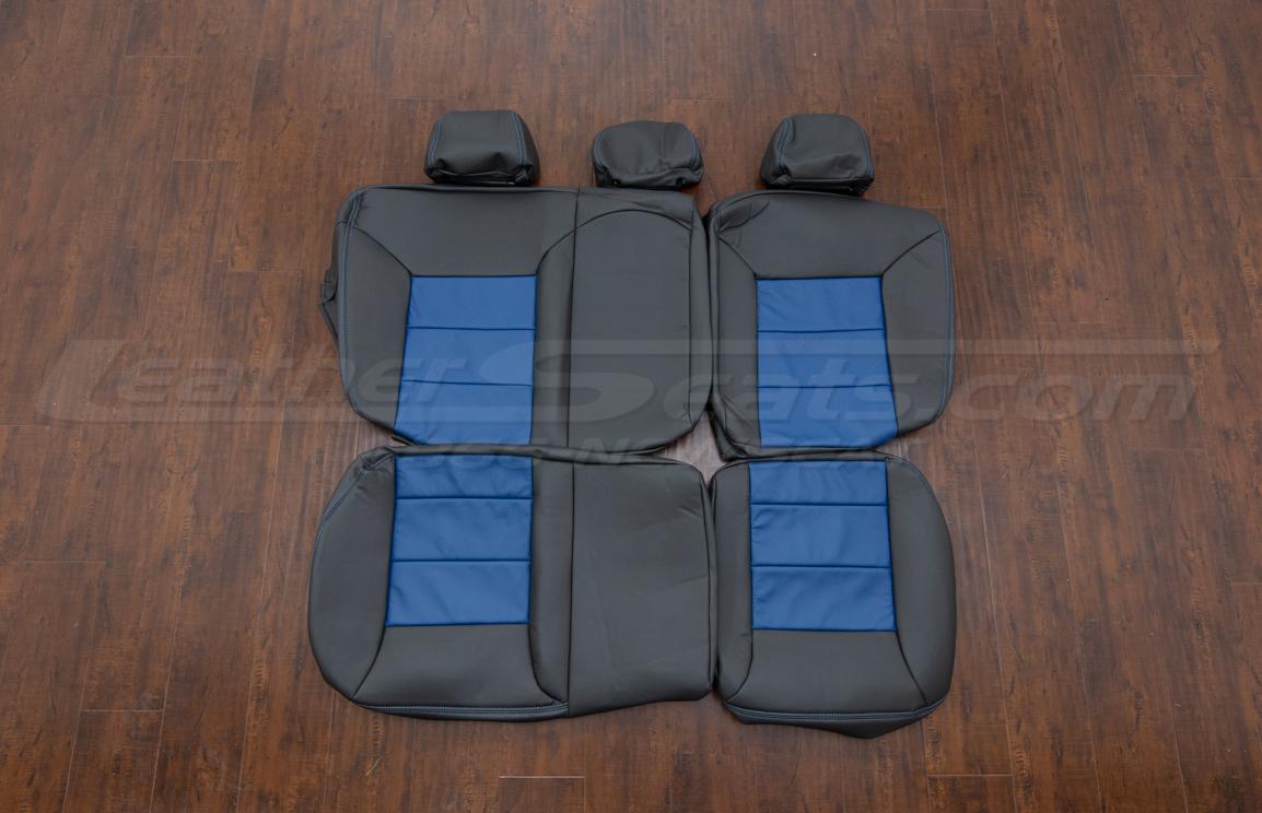 Volkswagen Jetta upholstery kit Dark Graphite and Pacific - rear seats