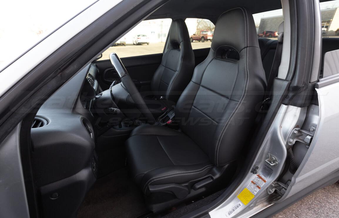 2004-2015 Subaru Impreza WRX Single-Tone Dark Graphite w/ Silver stitching - Front driver