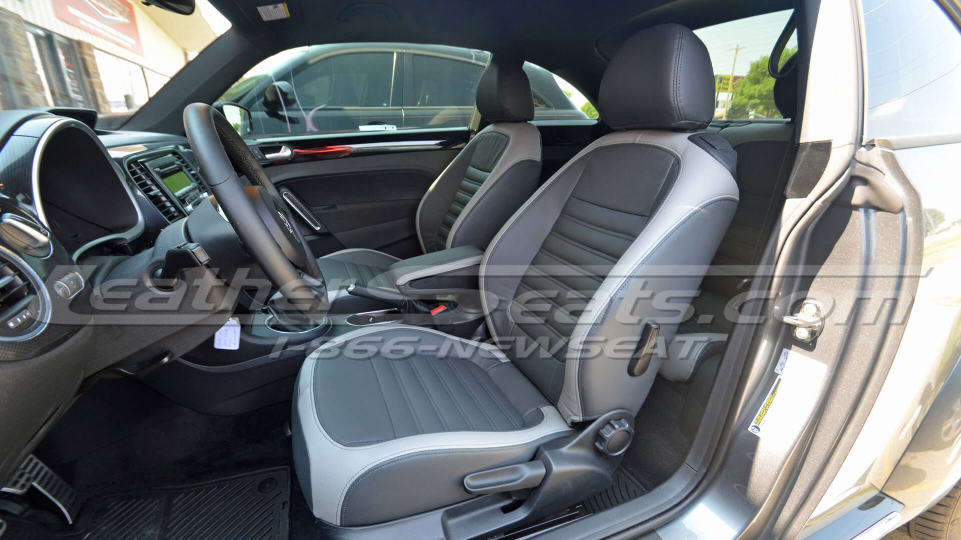 2012 Volkswagen Beetle custom interior - Graphite and Ash - Front driver seat
