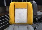 Carbon fiber pad installed on backrest cushion