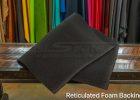 Reticulated backing foam