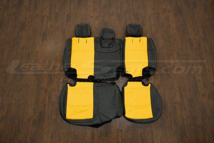 2018-2021 Jeep Wrangler Upholstery kit - Black & Velocity Yellow - Rear