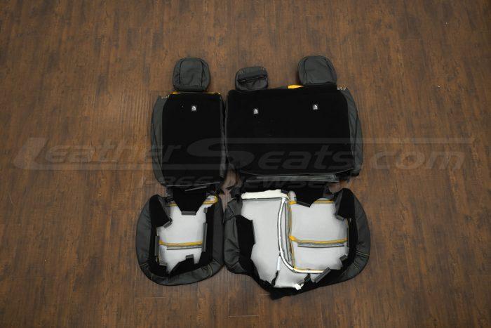 2018-2021 Jeep Wrangler Upholstery kit - Black & Velocity Yellow - Back view of rear seats