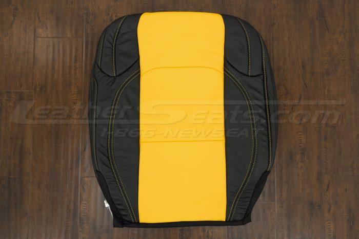 2018-2021 Jeep Wrangler Upholstery kit - Black & Velocity Yellow - Front backrest