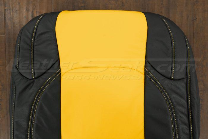 2018-2021 Jeep Wrangler Upholstery kit - Black & Velocity Yellow - Upper section of backrest