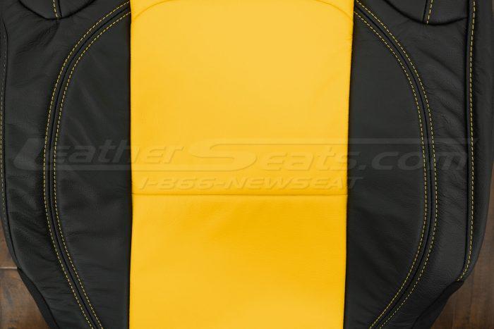 2018-2021 Jeep Wrangler Upholstery kit - Black & Velocity Yellow - Backrest close-up