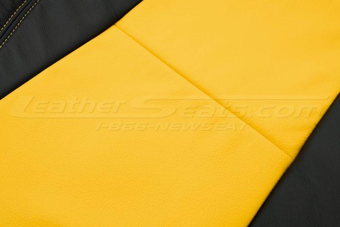 2018-2021 Jeep Wrangler Upholstery kit - Black & Velocity Yellow - Insert close-up