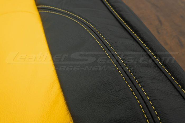 2018-2021 Jeep Wrangler Upholstery kit - Black & Velocity Yellow - Velocity Yellow Side stitching