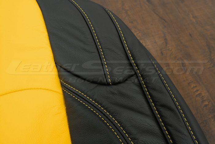 2018-2021 Jeep Wrangler Upholstery kit - Black & Velocity Yellow - Side stitching