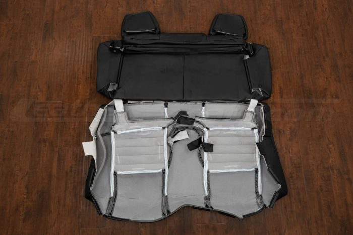 13-14 Ford Mustang Upholstery Kit - Black - Back view of rear seats