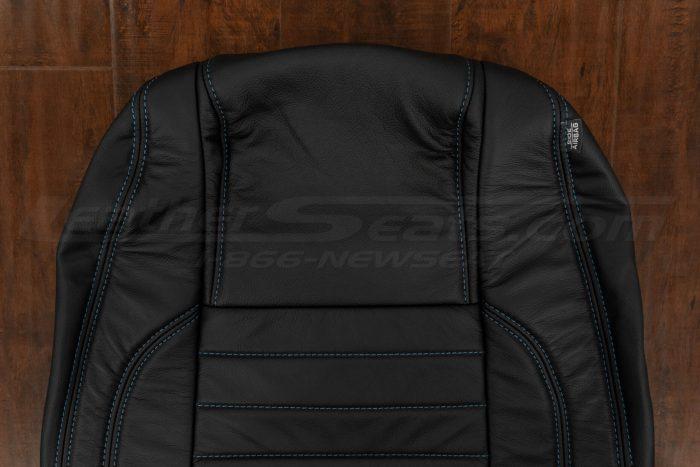 13-14 Ford Mustang Upholstery Kit - Black - Upper section of backrest