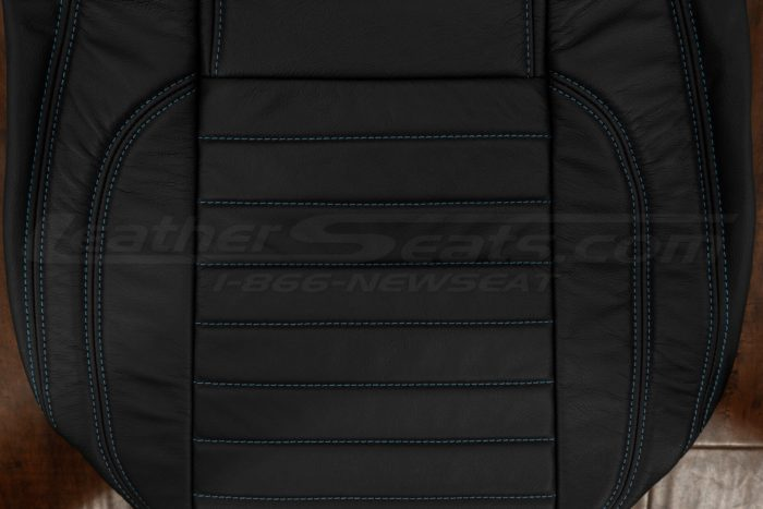 13-14 Ford Mustang Upholstery Kit - Black - Backrest inserts & stitching