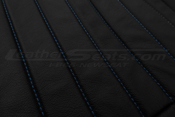 13-14 Ford Mustang Upholstery Kit - Black - Insert stitching close-up