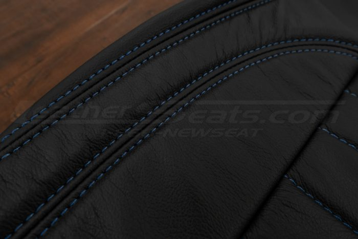 13-14 Ford Mustang Upholstery Kit - Black - Cobalt side double-stitching
